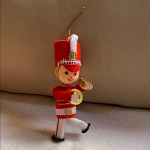 "5"" marching band soldier with cymbals ornament"